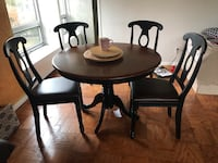 Espresso Kitchen Table & Chair Set Washington, 20007