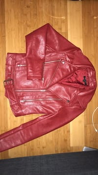 Red Faux Leather Jacket Toronto, M2P 1X9