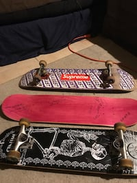 2 Complete Skateboards and a Deck signed by 3 Pro Skaters Meriden, 06450