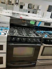 GE gas stove and electric oven with 4 months warranty