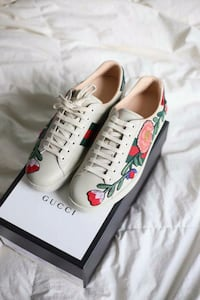 Gucci Ace Floral Embroidered Sneakers Washington