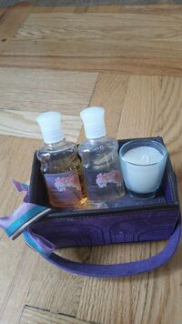 """Purple spa 6"""" carrying tote"""