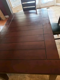 Espresso Table for 6, chairs and bench incl Manassas
