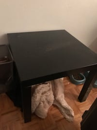 black wooden single-drawer end table Toronto, M5K 2R2