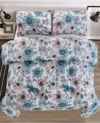 white and blue floral fabric sofa chair 20 mi