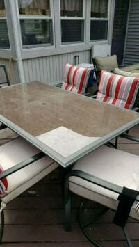 Rectangular glass patio table with 6 chairs Longmeadow, 01106