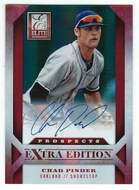 CHAD PINDER 2013 Panini Elite AUTOGRAPH on card AUTO #27/671 A's rookie Las Vegas