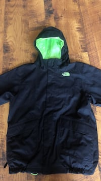 North Face HyVent jacket black/neon green Halifax
