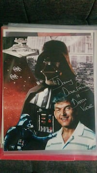 Star Wars / Darth Vader signed picture Alexandria, 22301