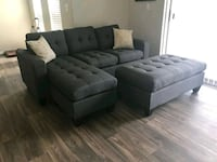 Gray convertible sectional bed w/ 2Accent pillows Las Vegas