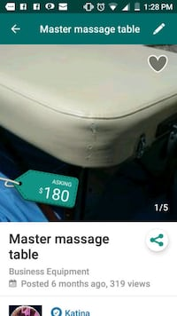 Master massage table Victorville, 92392