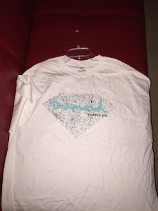 white and blue diamond supply co. shirt