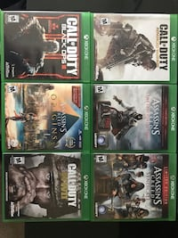 Xbox One Games! Assassins Creed Call of Duty! Games start at $10 Springfield, 22153