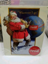 Coca cola coke soda Santa claus metal sign  Vancouver, 98662