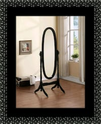 Black swivel oval mirror Greenbelt, 20770