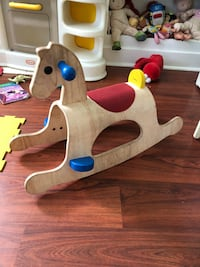 white and brown wooden rocking horse Los Angeles, 90043