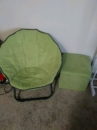 Green chair with footstool Denver, 80246