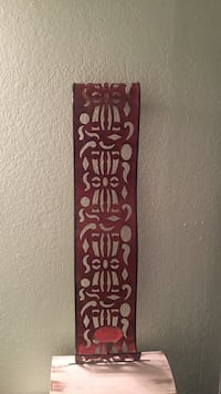 Beautiful, long, red, decorative, wall candle holder  Garland, 75043