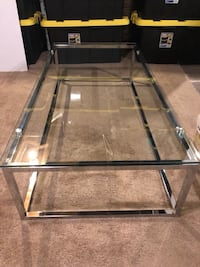 black metal frame glass top table New Haven, 06513