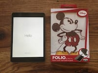 black iPad with Mickey Mouse folio case