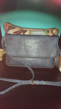 brown and gray leather crossbody bag Belle, 25015