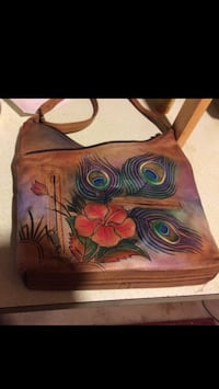Genuine Leather Hand Painted Anusckha Shoulder Bag 308 mi