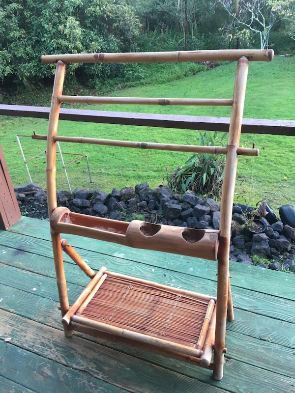 Used Bamboo Display Rack For fabrics, Towels, Orchids, Linens, Spa ...