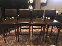 PotteryBarn Leather Bar Stools Gaithersburg, 20877