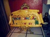 Handcarved holy supper w/stand 18x10 1488 mi