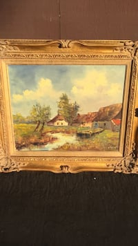 painting of house near body of water Stanton, 90680