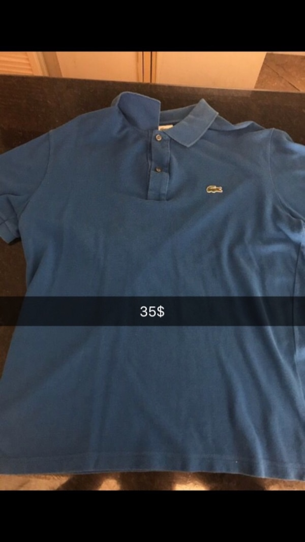 f72541345cea8 Used blue Lacoste polo shirt for sale in Tempe - letgo