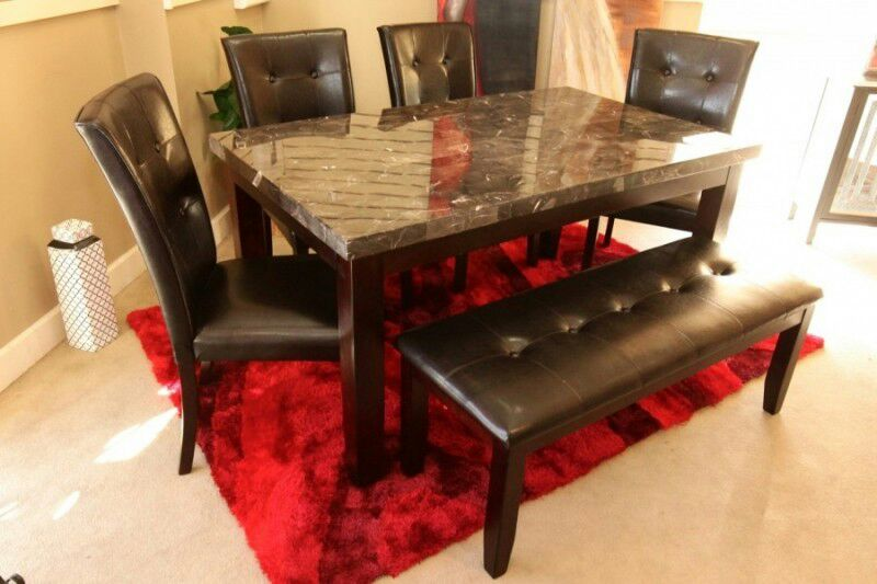 Letgo solid wood marble top dining s in takoma park md Home furniture and more langley park md