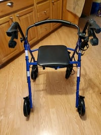 Blue Rollator Walker with Cup Holder