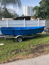 continental boat trailer, with 14 foot row boat..negotiable