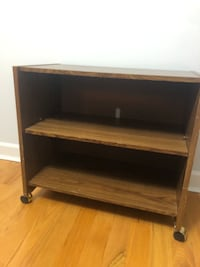 Brown wooden 2-layer shelf tv stand  Silver Spring, 20902