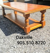 "48x20x15"" COFFEE TABLE Rustic Solid Wood Oakville"
