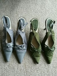 2 pairs open heel closed toe shoes  Clinton, 20735