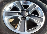 Chrome 5-spoke car wheel with tire Pasadena, 91106
