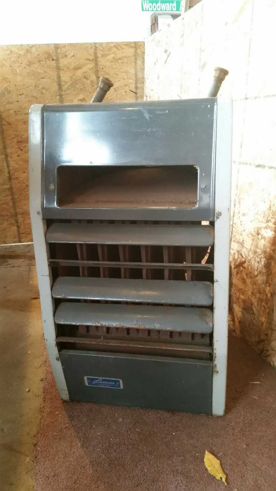 Used luxaire 72k btu garage heater furnace natural g in for How much to install a garage heater