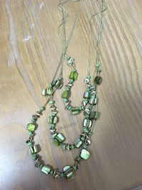 Green and silver beaded necklace Charlotte, 28216
