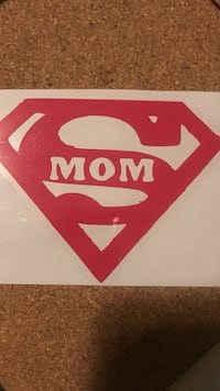 white and red Supermom-printed wall decor Newland, 28657