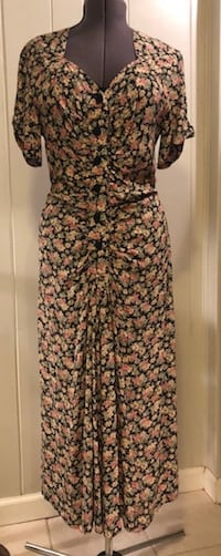 Sz 12 Vintage 1970's Reproduction Dress 16 mi