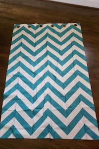 "2 teal striped curtains 63"" long Odenton, 21113"
