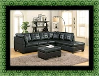 Black sectional with ottoman 55 km