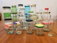 Pickle jars, spice jars, glass, small to large Washington