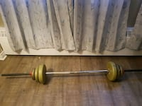Weight lifting bar and weights Brampton, L6Y 3M7