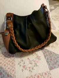 black and brown leather hobo bag Augusta, 30904