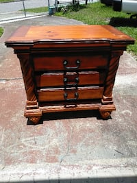 brown wooden 3-drawer chest null