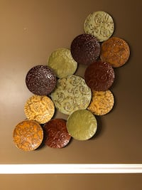 Rustic decorative plate wall art