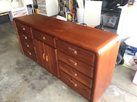 Brown wooden 6-drawer lowboy dresser Fremont, 94538